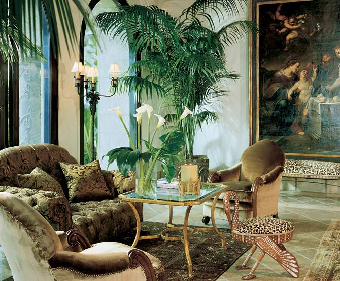 Amazing Designs African Themed Living Room