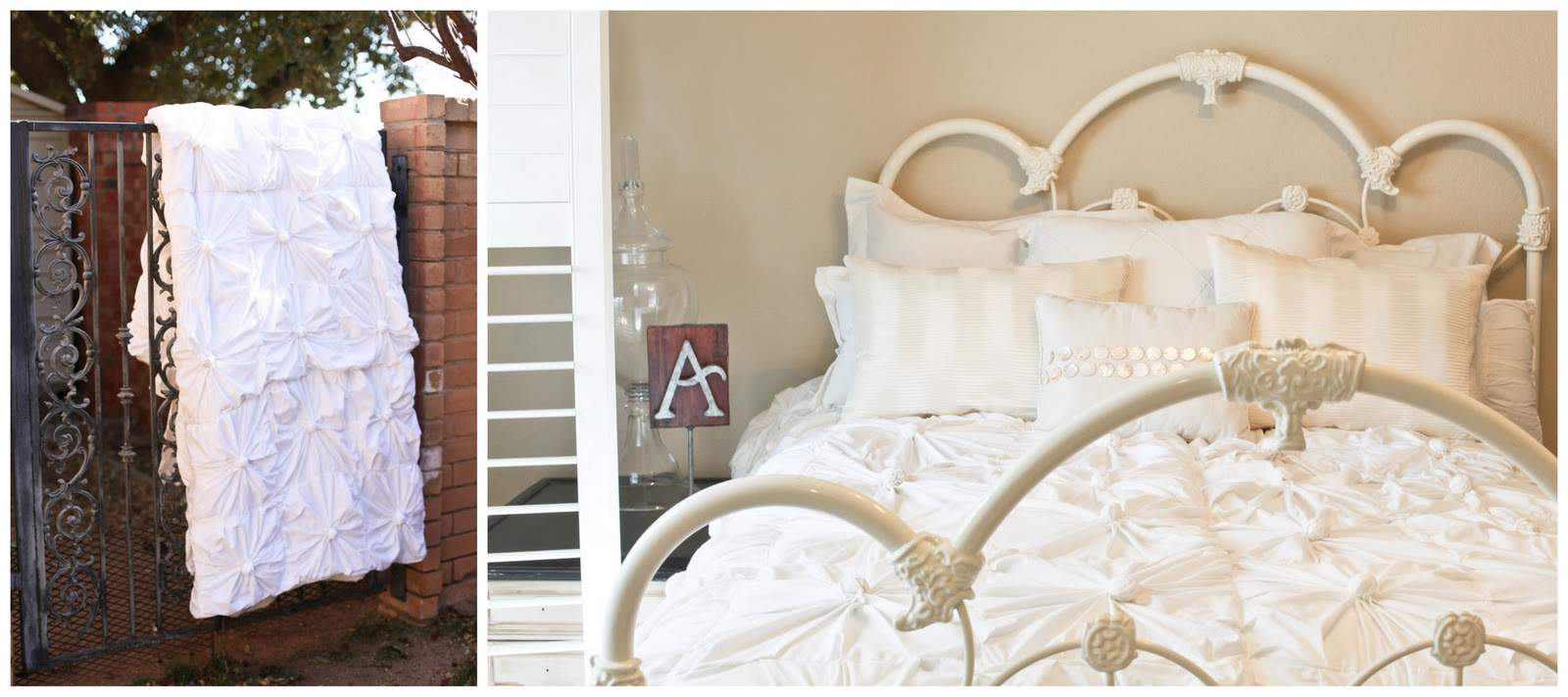 Anthropologie Inspired Knotted Bedding Part Putting All Together