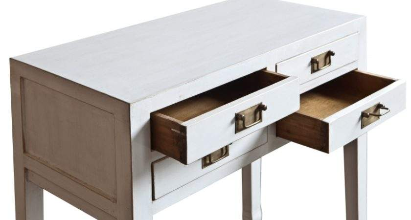 Article Hall Table Pictured Chinese Small White