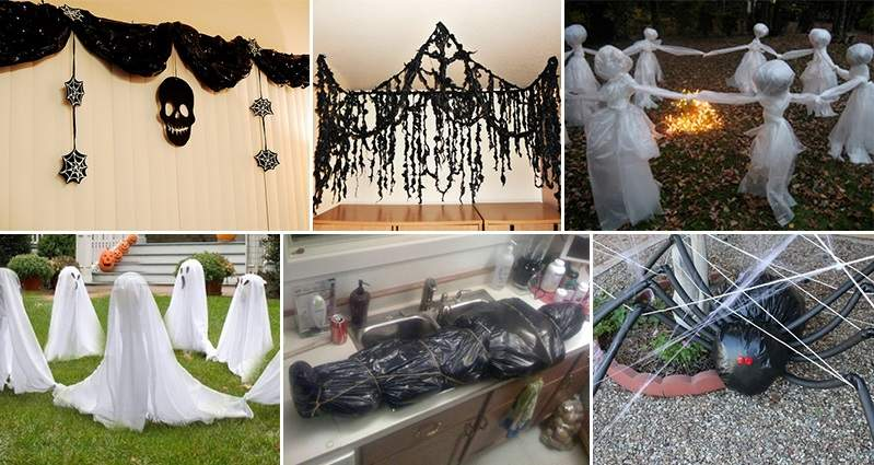 Awesome Ways Turn Garbage Bags Into Halloween Decorations