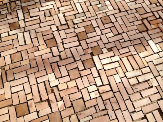 Awesome Wood Brick Floor Without Cement