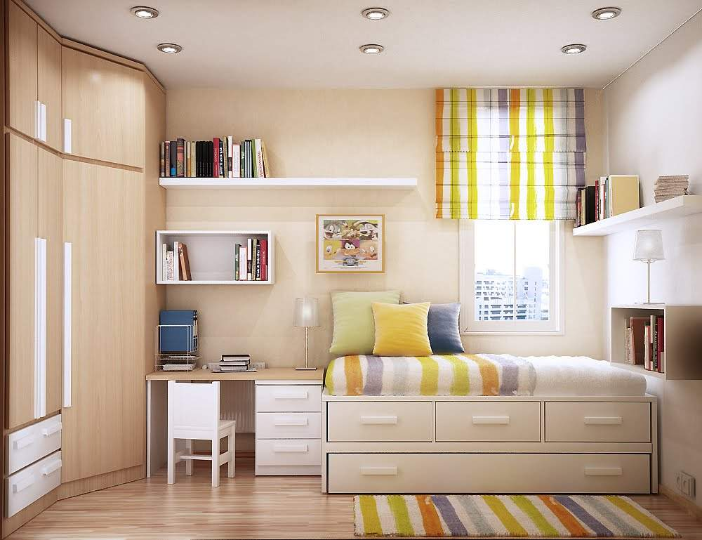 Bedroom Design Stripes Cool Funky Look Small