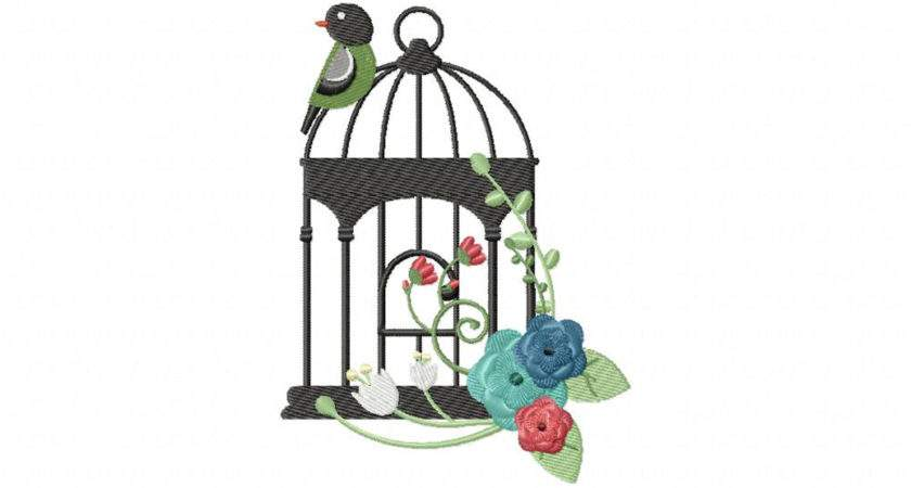 Bird Cage Embroidery Designs Machine Want
