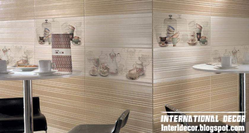 Bright Wall Ceramic Tiles Design Kitchens Beige Style