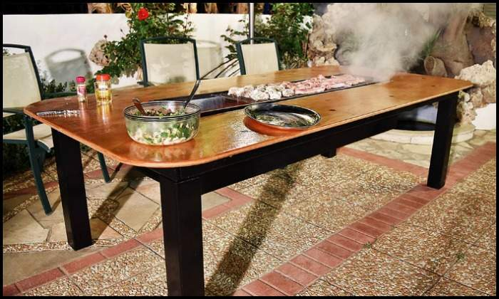 Build Barbecue Grill Table Combo Diy Projects