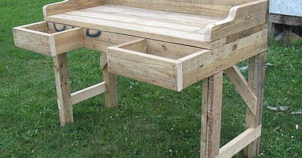 Build Outdoor Potting Bench Ehow