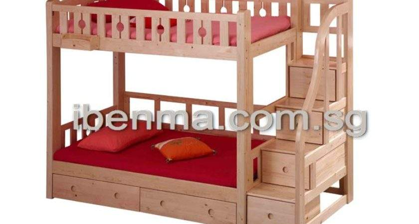 Bunk Bed Staircase Below Drawer Pull Out Bookshelf