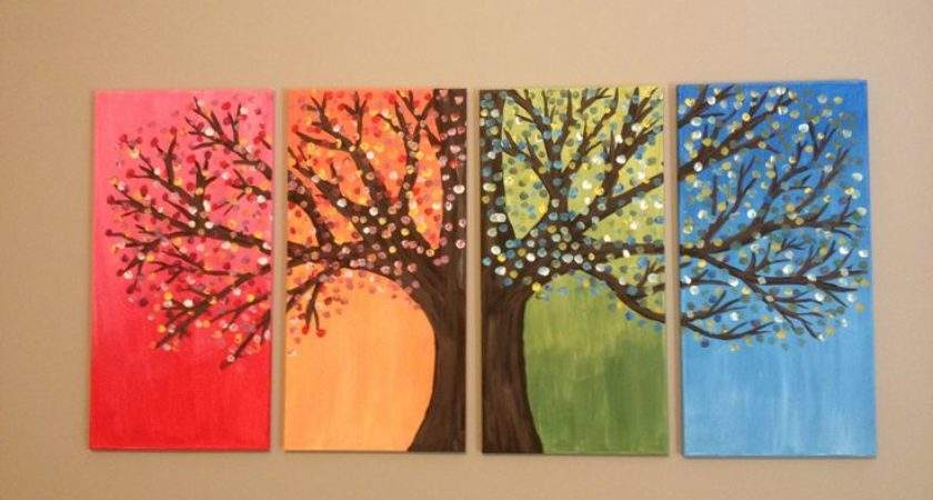 Canvas Painting Ideas Trees Diy Easy Home