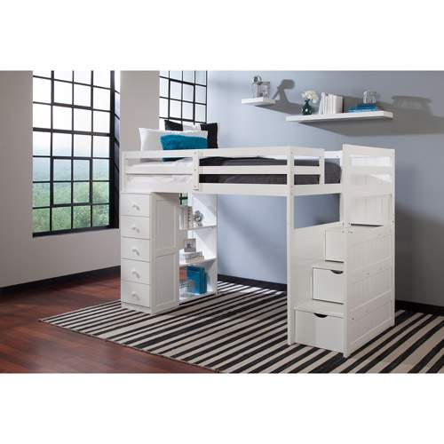 Canwood Mountaineer Twin Loft Bed Storage Tower
