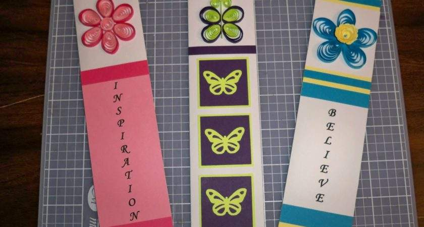 Card Creations More Three Bookmarks Quilled Pretty