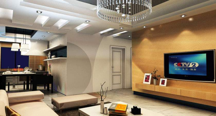 Chinese Interior Design Yellow Wood Wall Living Room House