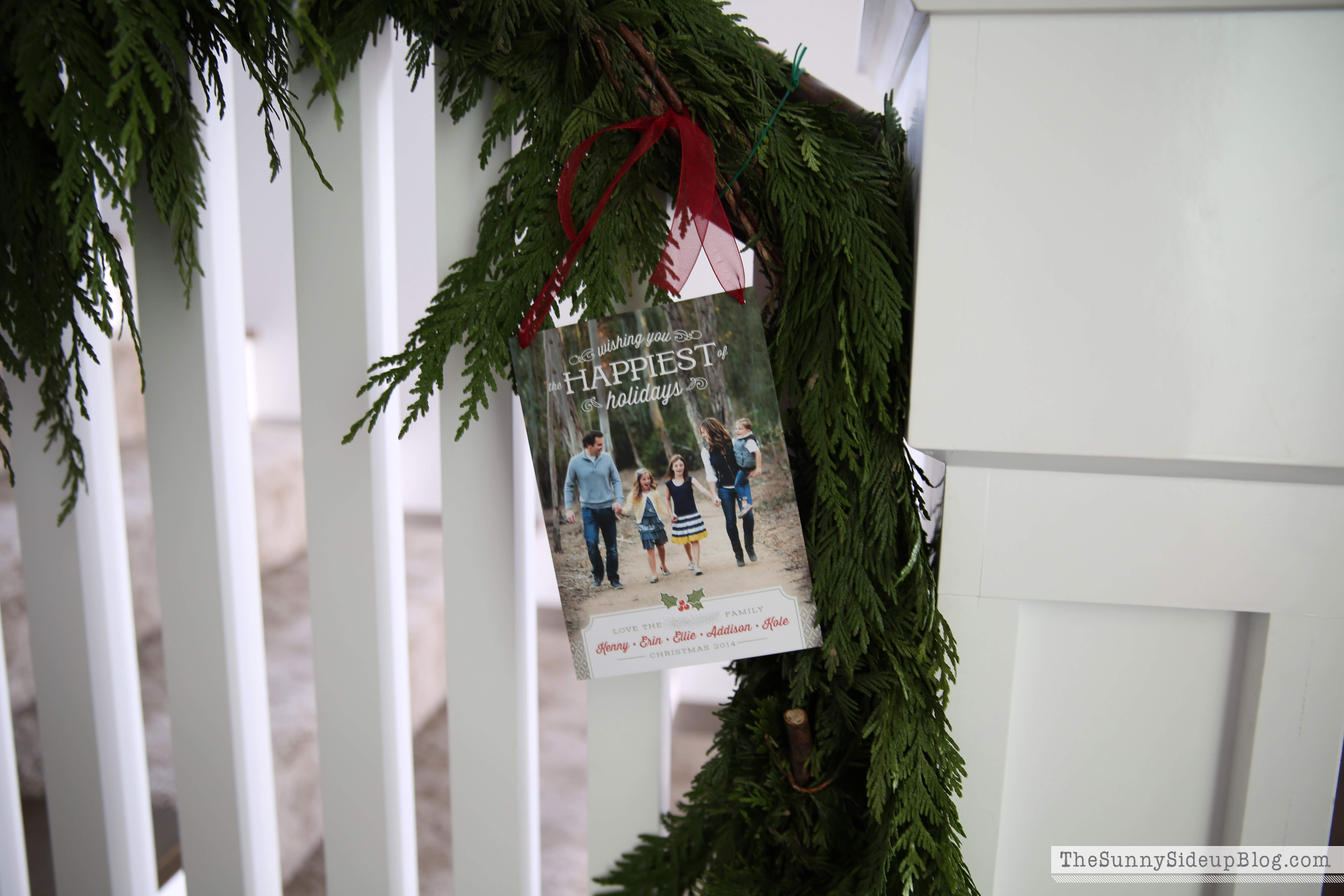 Christmas Cards Stairs Years Last Year Used Real Garland