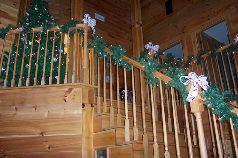 Christmas Decor Stairs Home Decorating Ideas