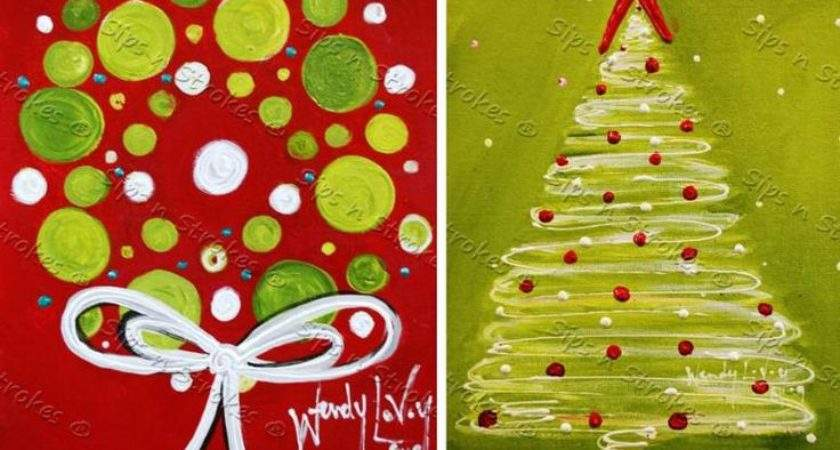 Christmas Painting Canvas Ideas Paintings