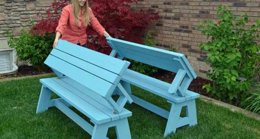 Convertible Picnic Table Bench Her Tool Belt