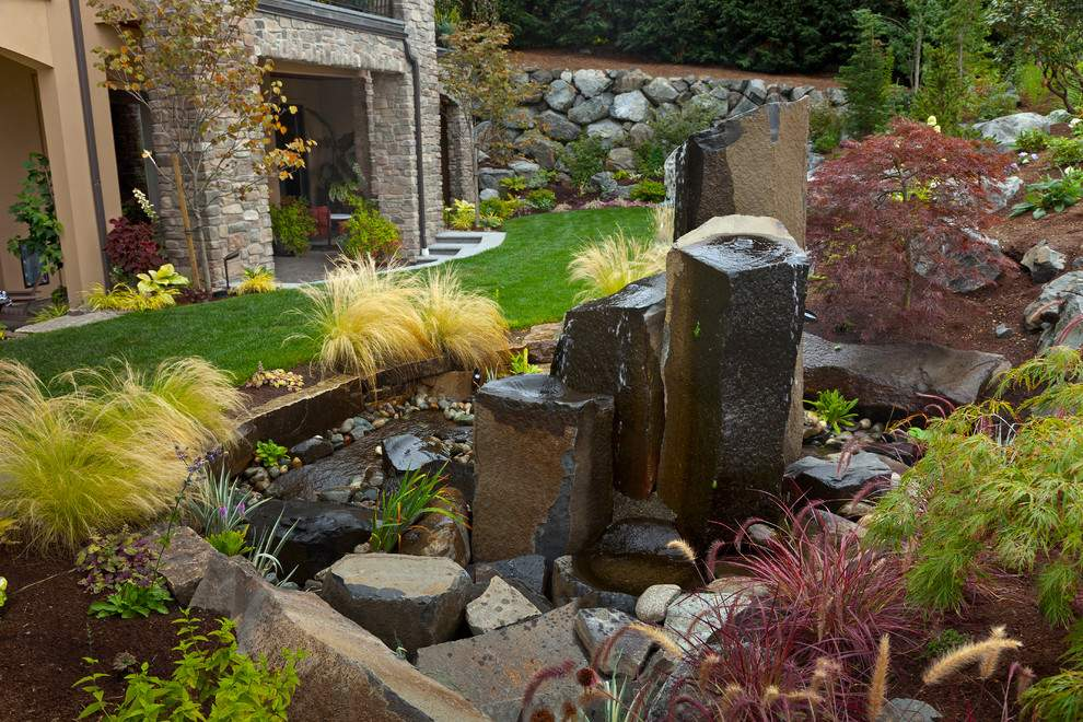 Cool Outdoor Rock Water Fountains Decorating Ideas Landscape