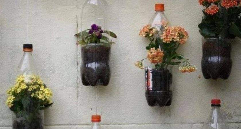 Create Hanging Baskets Recycled Materials