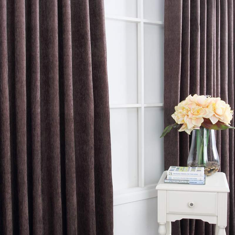 Curtain New Arrival Quality Chenille Winter Thermal Dark Color