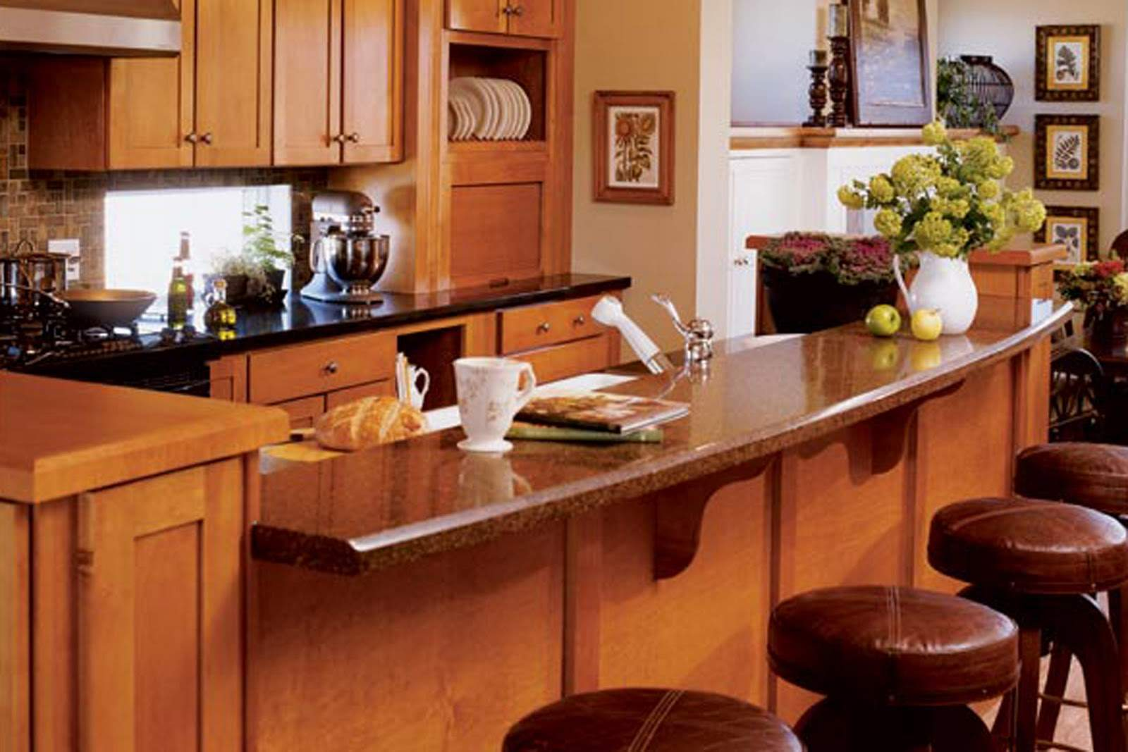 Curved Kitchen Islands Seating Kitchendecorate