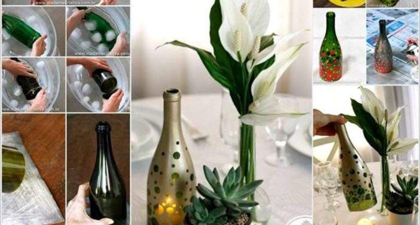 Design Beauteous Wine Bottle Candle Holder Decorate Your Home
