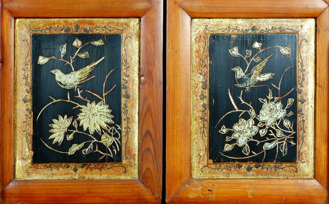 Details Antique Kitchen Pantry Cabinet Fujian Chinese Pine Wood