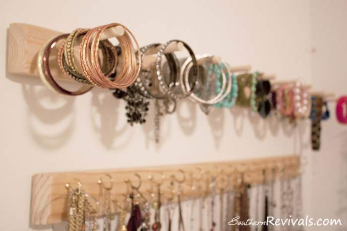 Diy Built Jewelry Organizer Southern Revivals