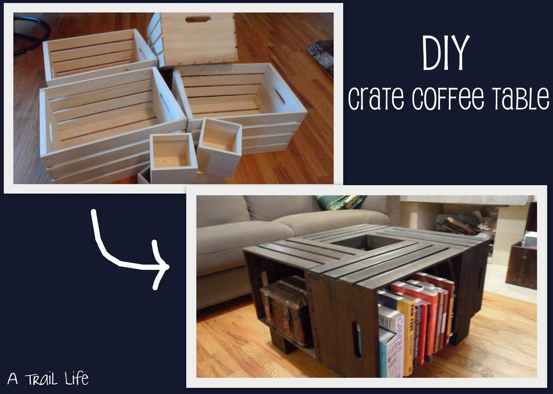 Diy Furniture Crate Coffee Table Trail Life