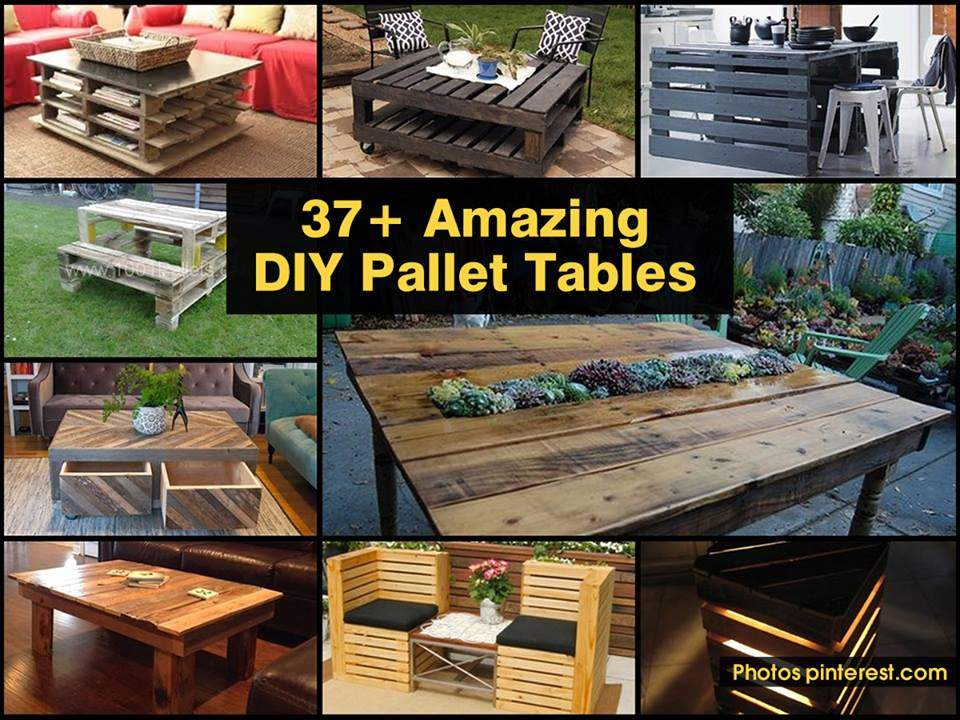 Diy Pallet Table Roundup Projects Never Cease