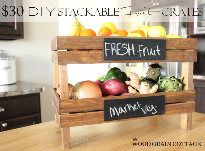 Diy Stackable Fruit Crates New Series Thursday Wood