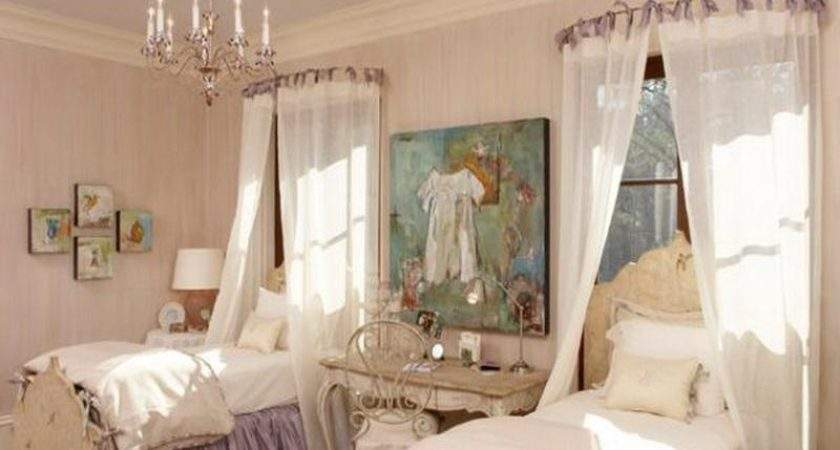 Diy Using Curved Curtain Rods Sheets Sheer Fabric
