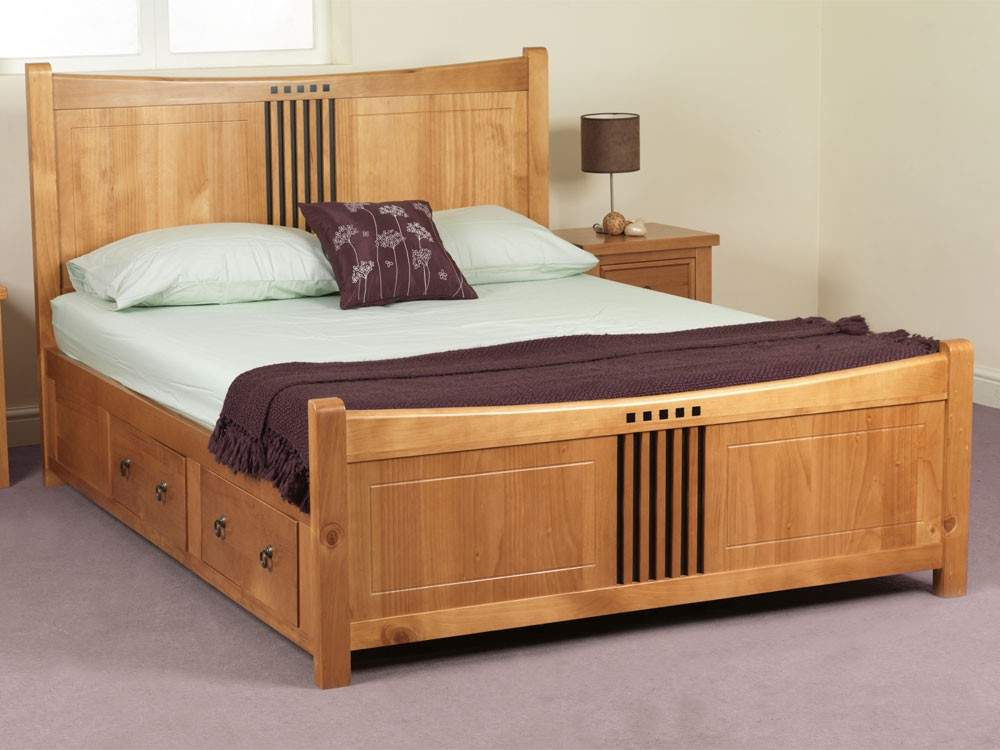 Double Bed Designs Wood Decorate House