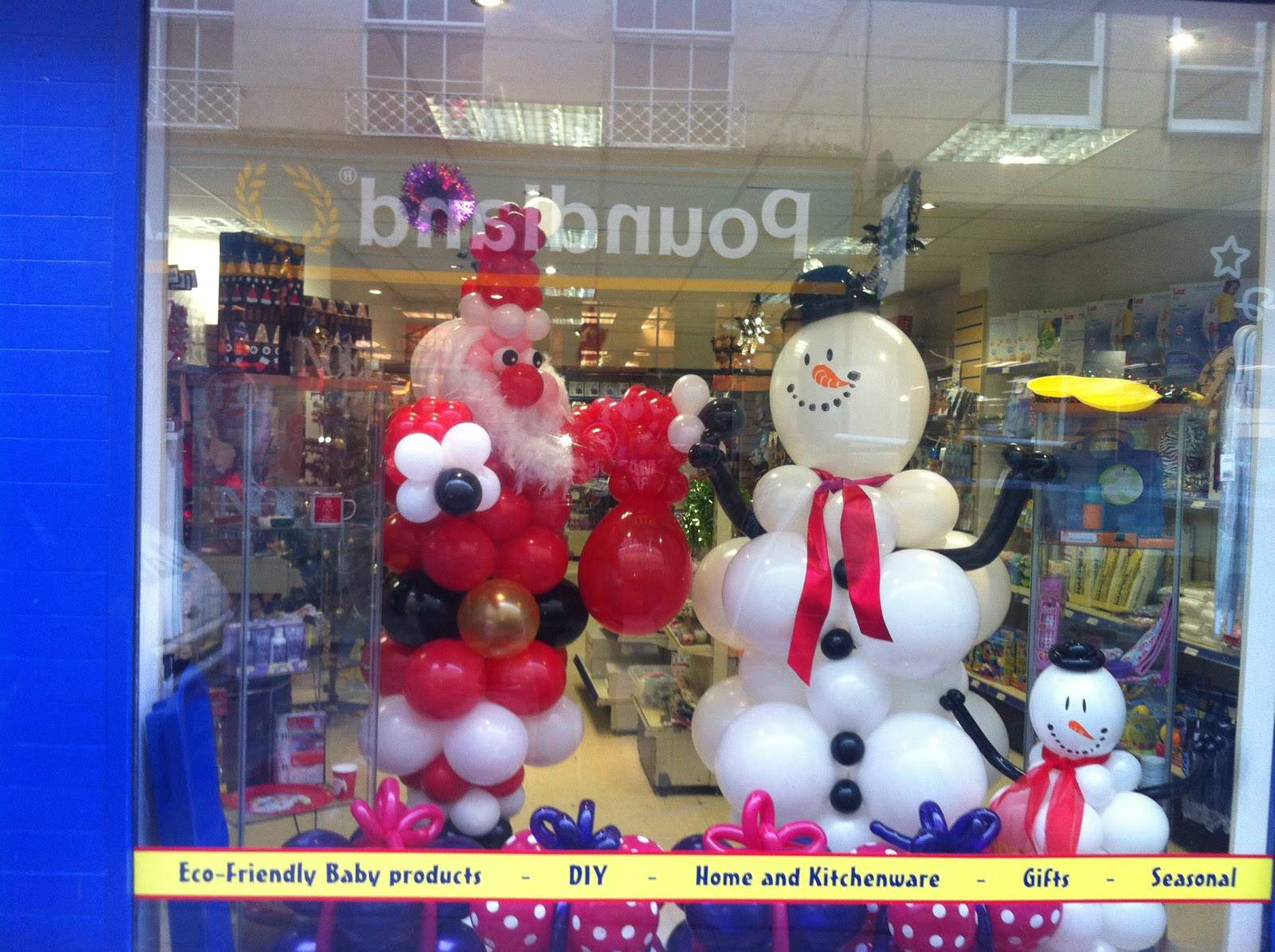 Events Bristol Christmas Balloon Decorations Your Shop Window