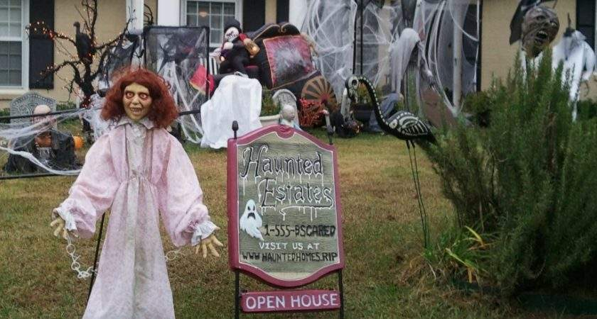 Frightful Spooky Halloween Decorations Home Furniture