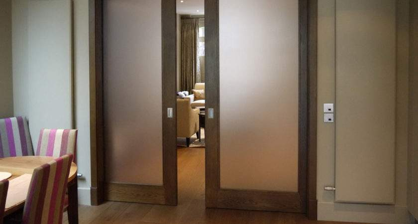 Frosted Glass Pocket Doors Your House Seeur