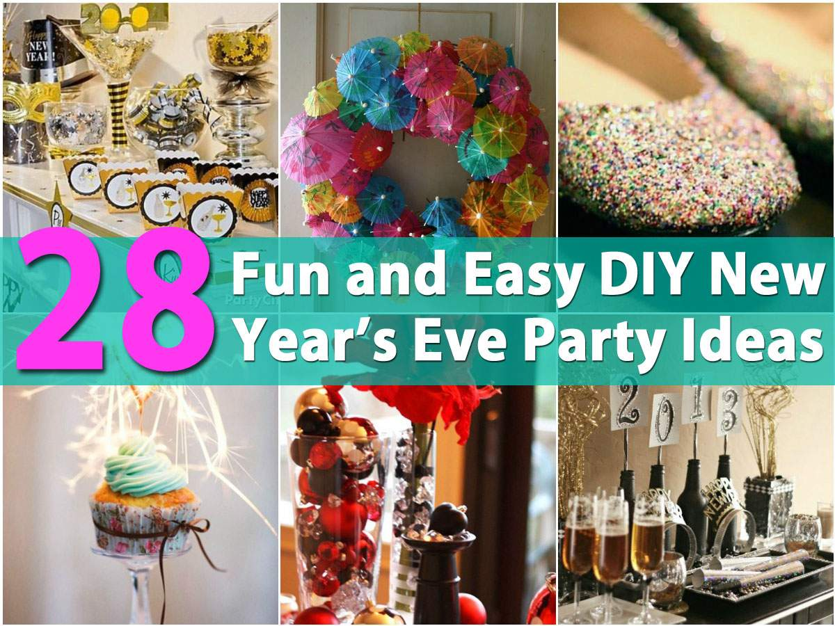 Fun Easy Diy New Year Eve Party Ideas Crafts
