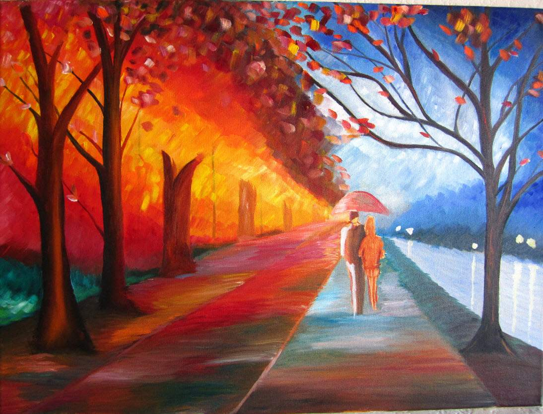 Handmade Paintings Nature Pintings Abstract Canvas