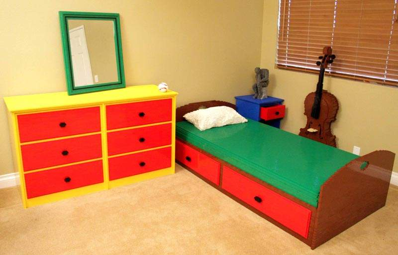 Have Lego Bricks But Few Their Own Bedroom Build