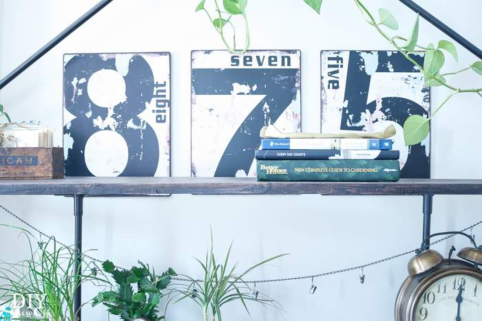 House Number Display Idea Pieces Pinterest