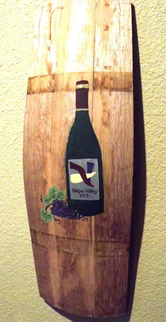 Items Similar Hand Painted Barrel Staves Wine
