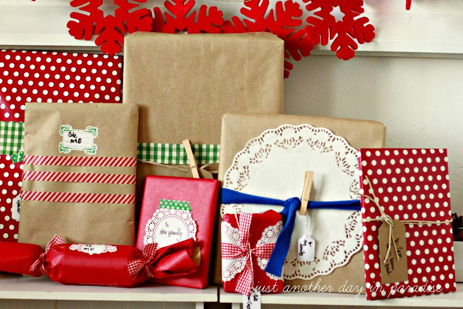 Just Another Day Paradise Country Christmas Gift Wrapping