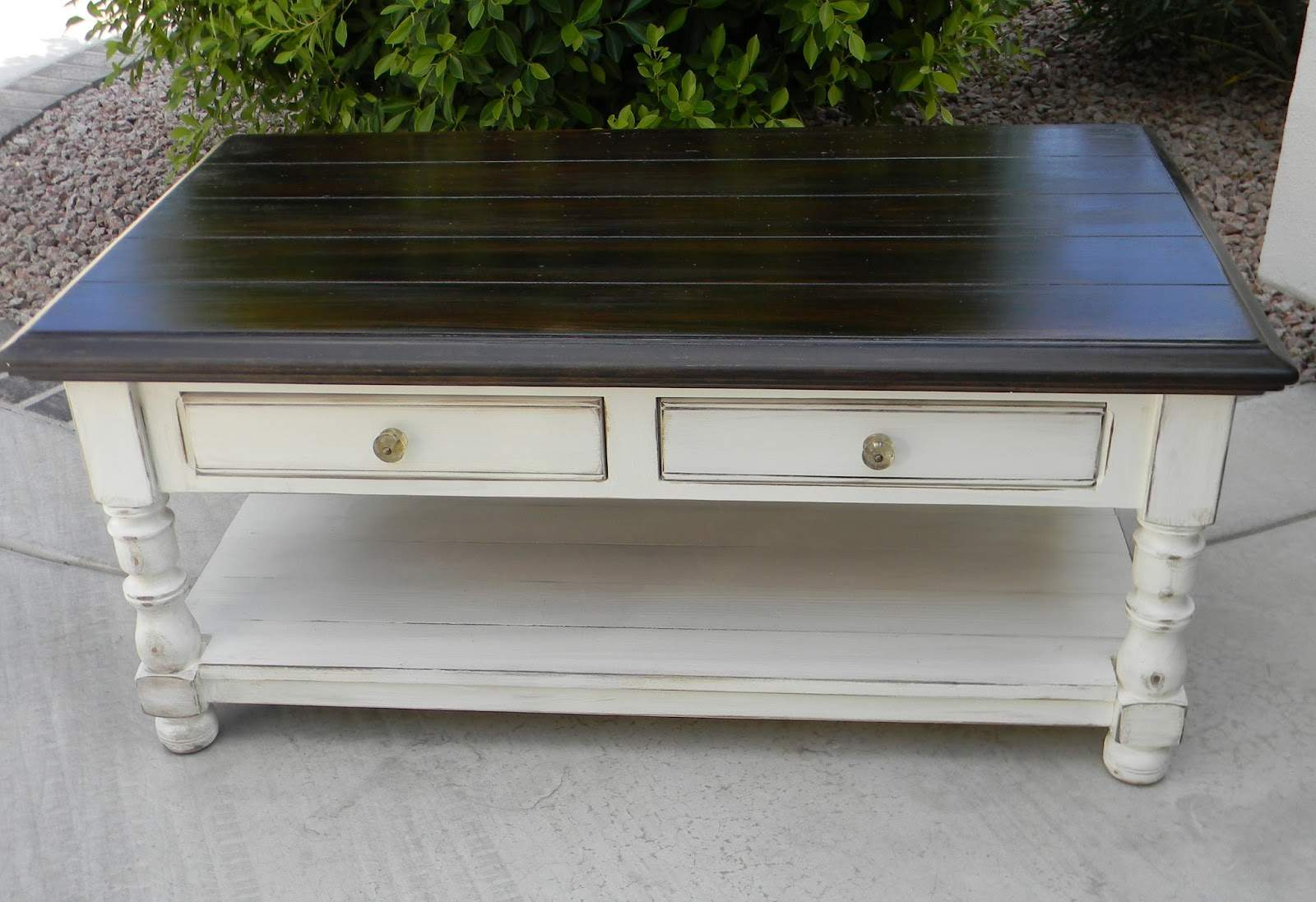 Little Bit Paint Refinished Coffee Table