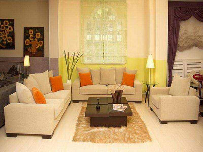 Living Room Decorating Small Bright Color