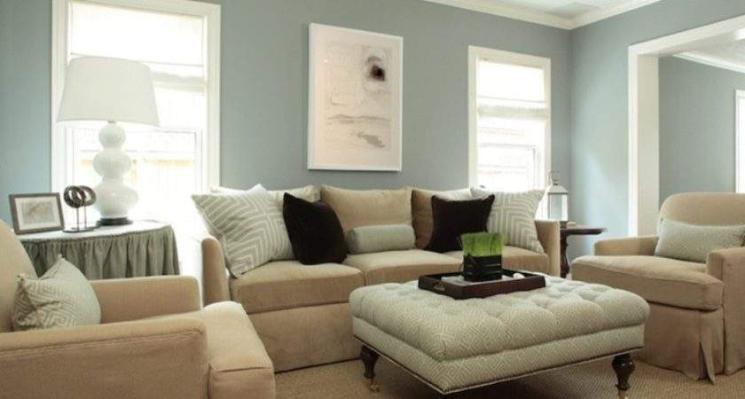 Living Room Wall Painted Dusty Blue Green
