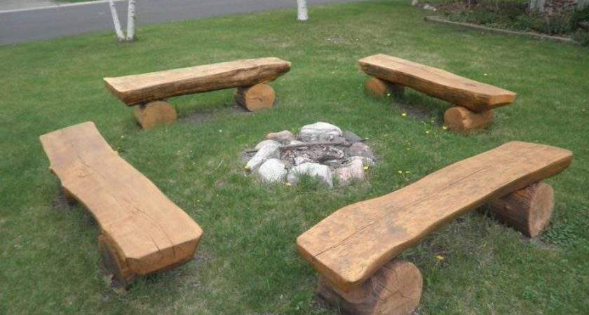 Log Benches Fire Pit Best Ideas