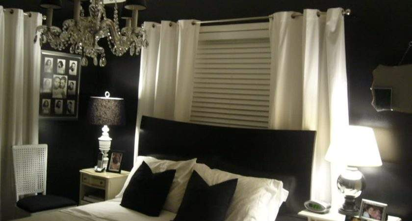 Luxury Best Bedroom Colors Black Bed Frame White Curtain Table