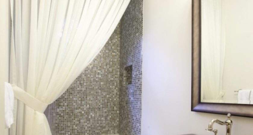 Making Your Bathroom Look Larger Shower Curtain Ideas