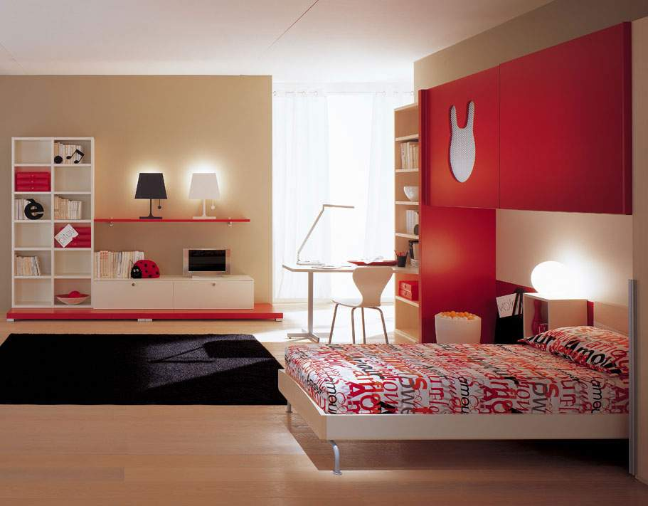 Modern Colorful Bedrooms Bedroom Contemporary