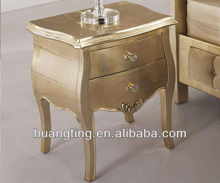 Night Stands Gorgeous Antique Solid Wood Bedside Table Classic Style