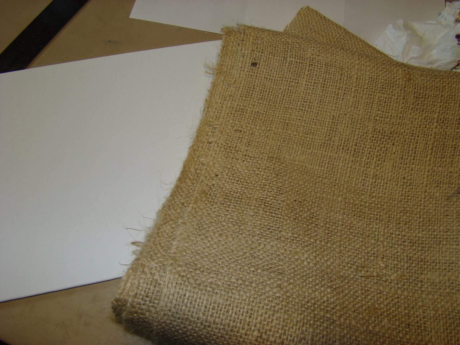 Our Treasured Home Painting Burlap