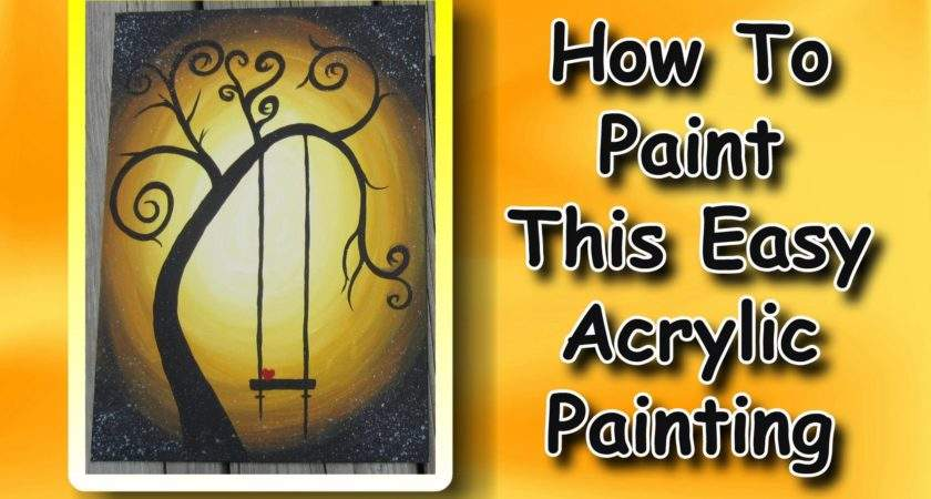 Paint Easy Acrylic Painting Beginners Youtube